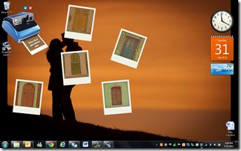 screen shot of photos developing
