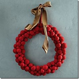 felted wreath