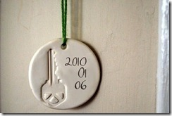 house key ornament