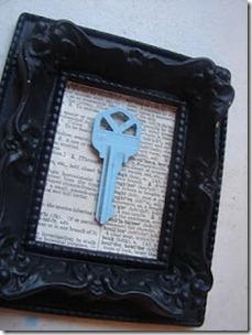 framed key