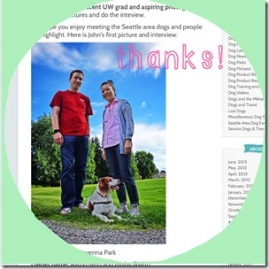 seattle dog blog thank you
