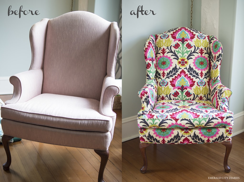 Superbe Diy Upholstered Wingback Chair.